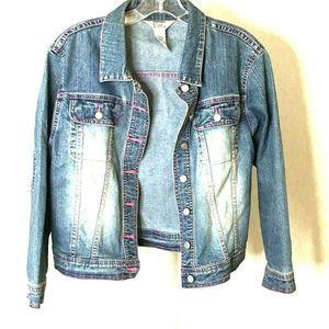 Lilly Pulitzer Women Denim Jacket Blue Cotton S
